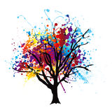 Paint splat tree stock illustration