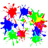 Paint splats Stock Image
