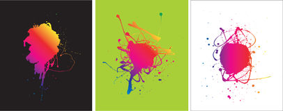 Paint splats Royalty Free Stock Image