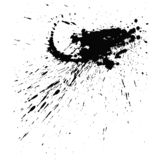 Paint splats blotch isolated on white background. Abstract grunge design element of distress texture. Vector blot vector illustration