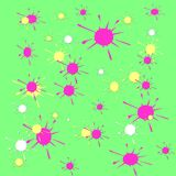 Paint splats spring colors Royalty Free Stock Image