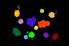 Paint splats vector stock illustration