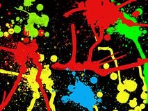 Paint splatter. Digitally created image of paint splatter on dark background Royalty Free Stock Images