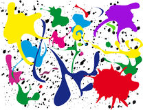 Paint Splatter. A vector illustration of different colored paint splattered on a white wall Royalty Free Stock Image