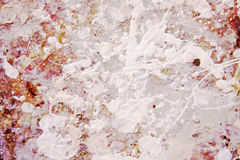 Paint splatter. White and colored paint splatter background stock photos