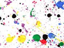 Paint splatter. Colorful paint splatter on white royalty free stock images