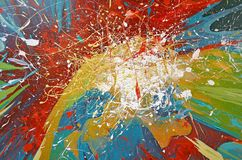 Paint splatter abstract Royalty Free Stock Image