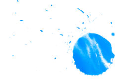 Paint splatter. Art drops and splashes of watercolor paint on surface Royalty Free Stock Photos