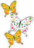 Paint Splatter Butterflies Stock Images
