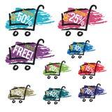 Paint Splatter Discount Label. Vector illustration of paint splattered discount label design elements Royalty Free Stock Image