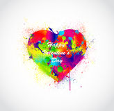 Paint splatter heart. Vector illustration Stock Images