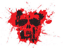 Paint Splatter scribble skull Stock Image