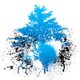 Paint splatter with tree Royalty Free Stock Images