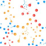 Paint splatter on white. Seamless. Background royalty free stock photography