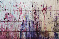 Paint splattered wall Royalty Free Stock Image