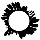 Paint Splatters Circle Logos Stock Photography