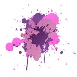 Paint Splatters.Hand Drawn Splashes. Colorful ink spots, acrylic paint splatter, grunge abstract painting background. Bright splats Royalty Free Stock Image