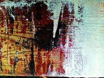 Paint splatters on wood Royalty Free Stock Photos