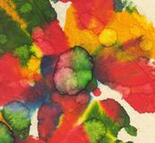 Paint Splotches on Textured Paper Royalty Free Stock Photos