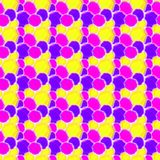 Paint Spotlight  Seamless Pattern. Abstract seamless paint spots in pink and Yellow. Seamless texture wrapping paper background Royalty Free Stock Photography