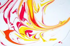 Paint spots, mixing, latex paint Royalty Free Stock Images