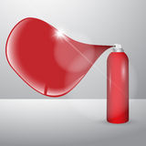 Paint spray can with speach bubble Stock Images