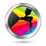 Paint sprayer symbol Royalty Free Stock Photography