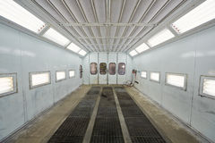 Paint-spraying booth at Service station Stock Images