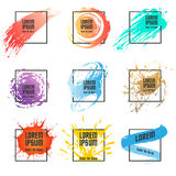 Paint and square frame set. In vector Royalty Free Stock Image