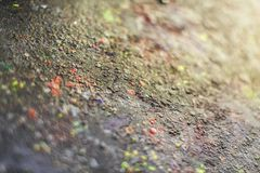 Paint-stained space, abstract texture. A set of paint stains on the dark background. copyspace. abstract splashes. blurred picture Royalty Free Stock Photo
