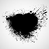 Paint stains black blotch background. Vector Royalty Free Stock Photos