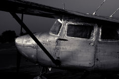Paint stripped off Cessna 172 airplane Royalty Free Stock Image