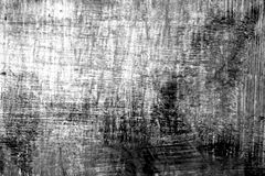 Paint strockes on metal in black and white. Abstract background and pattern Royalty Free Stock Photos