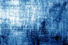 Paint strockes on metal in navy blue tone. Abstract background and pattern Royalty Free Stock Photography