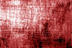 Paint strockes on metal in red tone. Abstract background and pattern Stock Photography