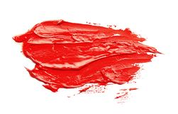Paint stroke drawn with brush on white stock photography
