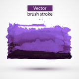 Paint stroke vector design element. Royalty Free Stock Photo