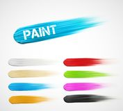 Paint strokes Stock Image