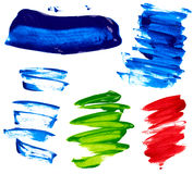 Paint. Strokes of paint isolated on white background stock image