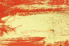 Paint strokes on metal surface stock images
