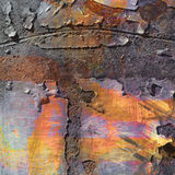 Paint Strokes Rust Abstract Stock Photography