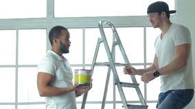 This paint is suitable for ceiling stock video
