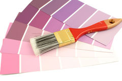 Paint swatches stock photography
