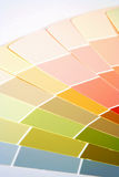 Paint Swatches. Paint samples fanned out on a white background Royalty Free Stock Photo