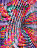 Paint Swirl Background Groovy. Digital art manipulation to make it look like paint swirling around stock illustration