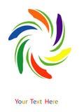 Paint swirl colors Stock Image