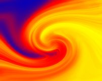 Paint swirl fire. Swirls of a paint pot being stired Royalty Free Stock Photo