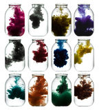 Paint swirling in water. Royalty Free Stock Photos
