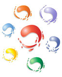 Paint swirls Royalty Free Stock Photos