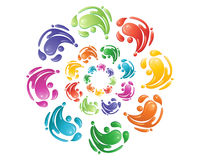 Paint swirls Royalty Free Stock Photo